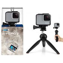 GoPro Hero 7 White Câmera + Tripé Bastão Mini 2 em 1 - Tudoprafoto