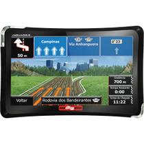 GPS 4.3 com TV Digital, Touchscreen, Alerta de Radares, MP4, FM Aquarius 4 Rodas Slim MTC4374