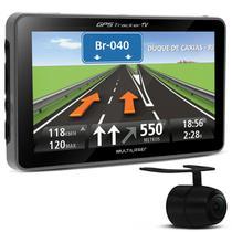 GPS Automotivo Multilaser Tracker GP035 4,3 Pol TV Digital Alerta Radar Touchscreen com Camera Ré -