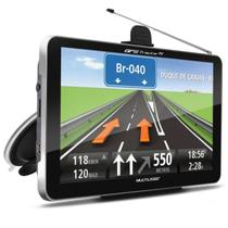 GPS Automotivo Multilaser Tracker GP038 3 7,0 Pol TV Digital Alerta Radar Touchscreen Leitor E-Book