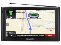 """GPS Automotivo NavCity Way75 Tela 7"""" Touchscreen  - TV Digital Transmissor FM HunteRadar Mapas em 3D"""