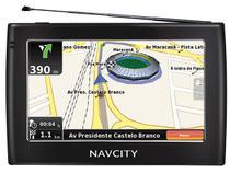 """GPS Automotivo/Pedestre NavCity WAY 45 Tela 4,3"""" - TV Digital + Alerta Radar + Mapas 3D"""