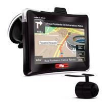 GPS Automotivo Quatro Rodas com Câmera de Ré e TV Digital Tela 7.0 - Aquarius