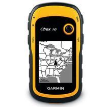 """GPS Esportivo Portátil Garmin Etrex 10 Amarelo Com Tela de 2.2"""" A Prova dÁgua e Poeira -"""