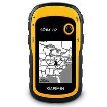 GPS Garmin eTrex 10 Portátil à Prova DÁgua com Bússola HotFix GLONASS Tela 2,2 - Amarelo Preto -