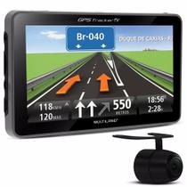 GPS LCD 4,3 Touch com Camera de Ré TV Digital Radio FM GP035 Multilaser -