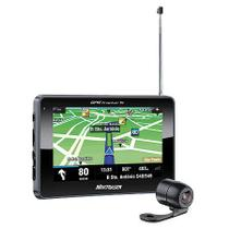GPS Multilaser Tracker III Tela 4.3 Transmissor FM e Camera de RE GP035 -
