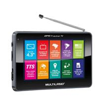 GPS Tracker III com TV Digital Touch Screen 4,3 Preto GP034 - Multilaser