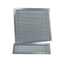 Grade de Ventilação Superior Arke 150x580 mm Sem Moldura  Cinza -