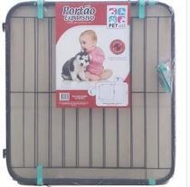 Grade Portão Proteção Segurança Bebe Criança 70 Á 115 cm Preto - Harbon