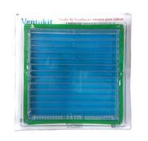 Grade transparente acrílico adesiva p/ vidro 15x15cm - Westaflex