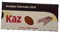 Grampo cobreado 26/6 5000 unidades - Kaz