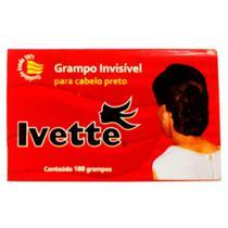 Grampo Invisivel Para Cabelo Ivette Preto Com 100 Unidades - Nt-Flex