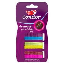 Grampo para Cabelo Condor nº 5 30 Unidades Ref. 8536 - Cores Sortidas - Condor - Any