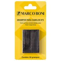 Grampo Preto Para Cabelo Nº 5 com 50 Unidades -  Marco Boni -