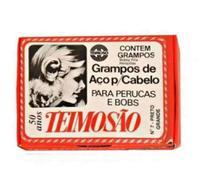 Grampo Teimosão n7 - preto grande c/ 3 - Teimoso