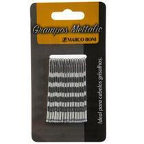 Grampos metálicos para cabelos com 16 unidades marco boni -