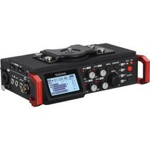 Gravador de Campo Tascam DR-701D Multitarefa de 4 Canais / 6 Trilhas com Microfones Omnidirectional integrados -