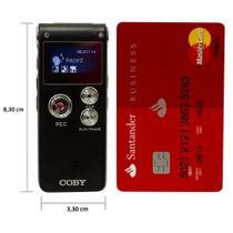 Gravador Digital de Voz Coby até 550h, 8GB, USB, MP3 e fone de ouvido -