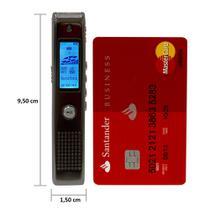 Gravador Digital de Voz Coby c/ até 550h, SD 8GB, USB, MP3 e alto falante -