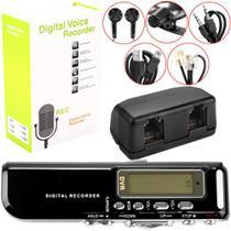 Gravador Digital de VOZ, Telefonico e MP3 Player CVR20 Preto COBY -