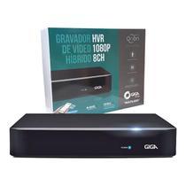 Gravador hvr hibrido h.265 serie orion open hd 1080p 8 canais giga gs0181 -