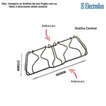 Grelha central para fogões electrolux 76 ub -