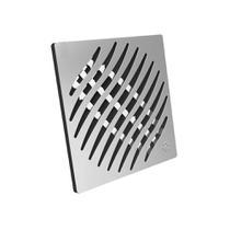 Grelha quadrada 150mm prata inox Tigre -