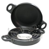Grill compacto NTK leve e compacto para uso com fogareiro ou fogão tradicional Mini Home Gril -