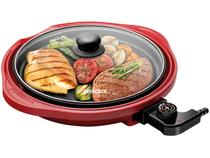 Grill Lenoxx Life Red Redondo 1250W - Antiaderente
