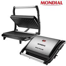 Grill Sanduicheira Mondial Master Press 1000w Inox Antiaderente -