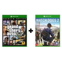 GTA 5 Premium Edition + Watch Dogs 2 - Xbox One - Rockstar Games