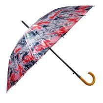 Guarda chuva cabo curvo madeira preto c/16 varetas - imperium -