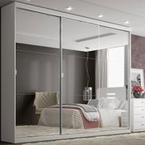 Guarda Roupa 3 Portas 4 Gavetas Mirage Glass THB