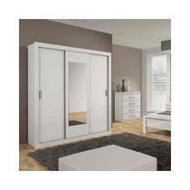 Guarda-roupa 3 Portas Apoena New com espelho - Lopas -