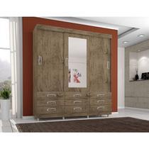 Guarda Roupa 4900 3 Portas deslizantes com Espelho 9 Gavetas cor Demolição - Araplac -