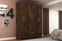 Guarda Roupa 6 Portas 2 Gavetas Dormitorio Natal GR6222 Cacau Rodial Moveis -