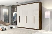 Guarda Roupa 6 portas 4 gavetas New Monumental Zanzini - Jacaranda/Off White -