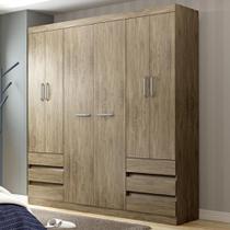 Guarda-roupa 6 Portas 6 Gavetas Rp5066 Wood - Decibal