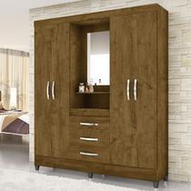 Guarda Roupa Capri C/Espelho Castanho Wood - Moval