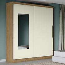 Guarda-roupa Casal 2 Portas 4 Gavetas J562-frow Freijó/off White/espelho - Kappesberg -