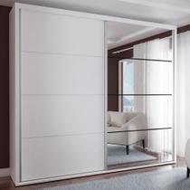 Guarda-Roupa Casal 2 Portas com 1 Espelho 100% Mdf 1912e1sa Branco - Foscarini -