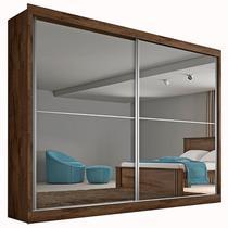 Guarda Roupa Casal 2 Portas com Espelho e 4 Gavetas Verona Plus Made Marcs -