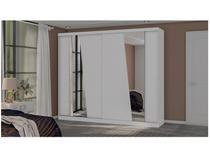 Guarda-roupa Casal 2 Portas de Correr 8 Gavetas - Kappesberg G551-BR com Espelho