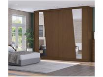 Guarda-roupa Casal 2 Portas de Correr 8 Gavetas - Kappesberg G551 com Espelho
