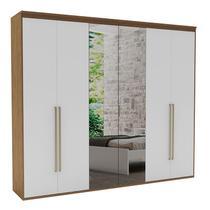 Guarda-Roupa Casal 2,67cm 6 Portas c/ Espelho Originale Fosco-Belmax -