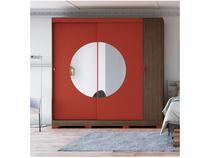 Guarda-roupa Casal 3 Portas 3 Gavetas - Kappesberg PO702 com Espelho