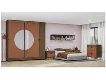 Guarda-roupa Casal 3 Portas 3 Gavetas Kappesberg - PO702-P8 com Espelho