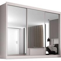 Guarda-Roupa Casal 3 Portas c/ Espelho e 3 Gavetas Napoli - Móveis Europa -