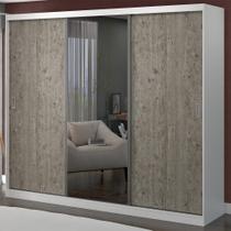 Guarda-Roupa Casal 3 Portas com 1 Espelho 100% Mdf 1902e1 Branco/Demolição - Foscarini -